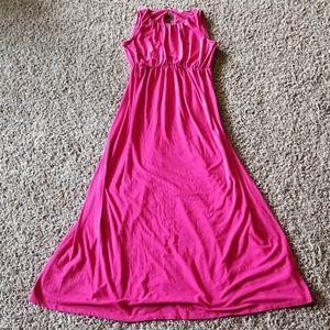 Old Navy Pink Maternity Maxi Dress